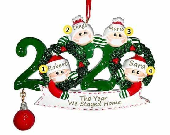 Personalized Quarantine Family Tree Ornament